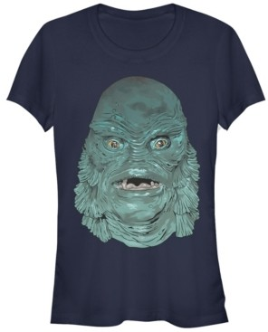 Fifth Sun Universal Monsters Women's Creature from The Black Lagoon Big Face Short Sleeve Tee Shirt