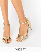 Asos HIDE AND SEEK Wide Fit Heeled Sandals
