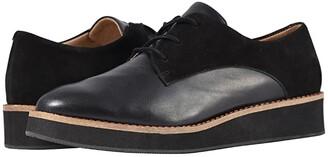 SoftWalk Willis (Black/Black Nubuck) Women's Lace up casual Shoes