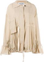 Loewe drawstring loose-fit coat - women - Cotton/Acetate - 36