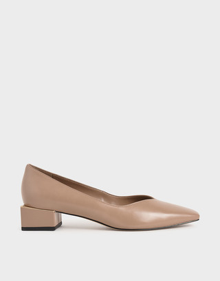 Charles & Keith Block Heel Court Shoes