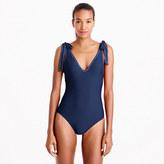 J.Crew Shoulder-tie one-piece swimsuit