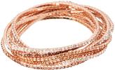 Love Rocks Crystal & Blush Stretch Bracelet Set