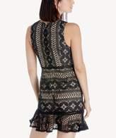 Sole Society Sleeveless Ruffle Hem Mini Dress