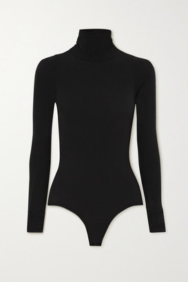 Commando Ballet Stretch-jersey Turtleneck Thong Bodysuit - Black