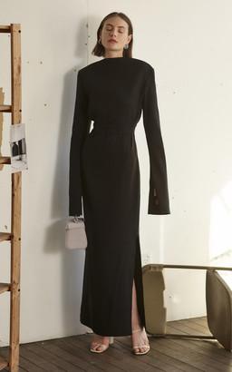 PARIS GEORGIA Jill Bell Sleeve Maxi Dress