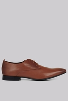 Moss Bros Charlton Pindot Tan Derby Shoes