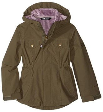 The North Face Kids Osolita 2.0 Triclimate (Little Kids/Big Kids) (New Taupe Green/Ashen Purple) Girl's Coat