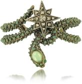 Roberto Cavalli Snake Star Bracelet w/Green Stone