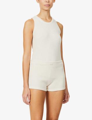 Reebok x Victoria Beckham Ribbed stretch-knit shorts