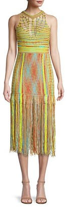 M Missoni Fringe Sleeveless Midi Dress