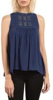 Volcom Women's Crunchroll Lace Trim Top