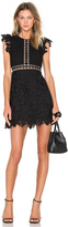 Cynthia Rowley Wild Flower & Geo Lace Mini Dress