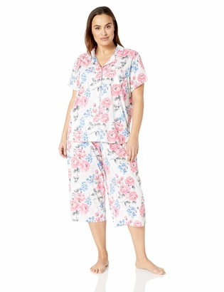 Karen Neuburger Women's Petite Short-Sleeve Girlfriend Crop Pajama Set PJ