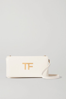 Tom Ford Mini Leather Shoulder Bag - White