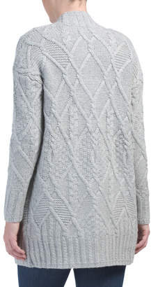 Criss Cross Cabled Cardigan