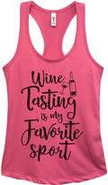 "Cute Wine Gym Tank ""Wine Tasting Is My Favorite Sport"" - Funny Little Royaltee Shirts"