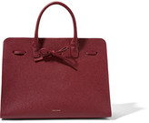 Mansur Gavriel Sun Large Textured-leather Tote - Claret