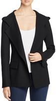 DKNY Hooded Stretch Wool Blazer
