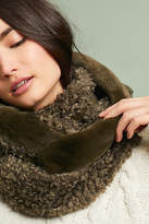 Anthropologie Mixed Faux Fur Infinity Scarf