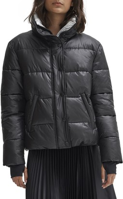 Noize Puffer Coat w/ Contrast Collar and Lining