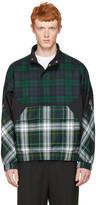 Alexander Wang Green Panelled Check Jacket