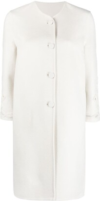 Ermanno Scervino Cut-Out Detail Collarless Coat