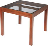 One Kings Lane Vintage 1960s Walnut & Smoked Glass-Top Table