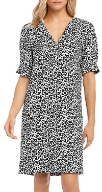 Karen Kane Leopard-Print Shift Dress
