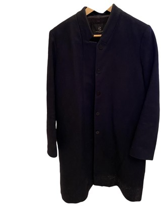 Bruuns Bazaar Navy Wool Coat for Women