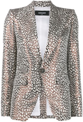 DSQUARED2 tailored leopard pattern blazer