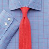 Charles Tyrwhitt Extra slim fit Prince of Wales check pink satin shirt