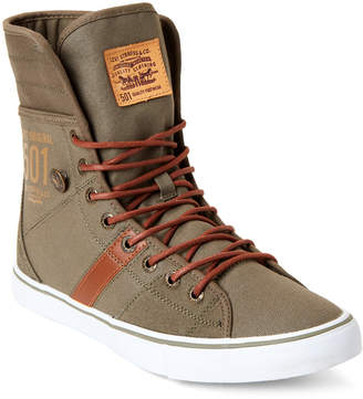 Levi's Olive & Tan 501 Fly High-Top Sneakers