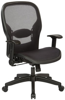 Office Star Black Nylon Air Grid Manager's Chair