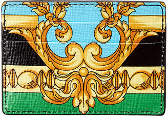 Versace Baroque Print Leather Card Holder