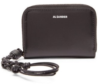 Jil Sander Braided-strap Leather Wallet - Black