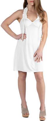 24/7 Comfort Apparel 24/7 Comfort Dresses Ruffle Halter Summer Dress