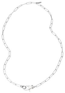 ADORNIA Lock Paper Clip Chain Necklace
