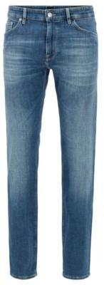 BOSS Regular-fit jeans in super-soft stretch denim