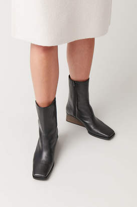 Cos SQUARE-TOE WEDGE BOOTS