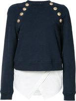 Derek Lam 10 Crosby buttoned sweatshirt - women - Cotton/Acrylic - 6