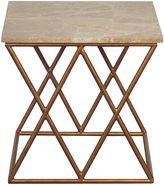 Port 68 Lola Marble Side Table, Gold/Cream