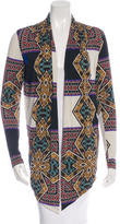 Etro Abstract Print Open Front Cardigan