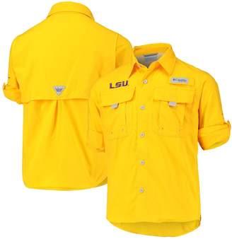 Columbia Unbranded Youth Gold LSU Tigers Bahama Fishing PGF Omni-Shade Shirt