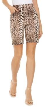 INC International Concepts Inc Snake-Print Bermuda Shorts, Created for Macy's