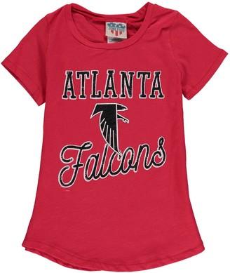 Junk Food Clothing Unbranded Girls Youth Red Atlanta Falcons Script T-Shirt