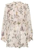 Zimmermann Printed silk top