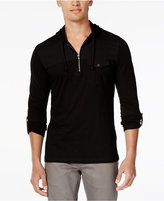 INC International Concepts Men's Moto Travel Long-Sleeve Hoodie Shirt, Only at Macy's