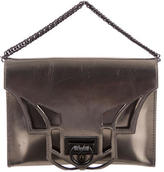 Reece Hudson Metallic Leather Satchel