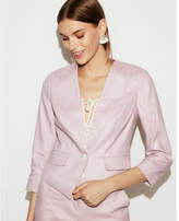 Express petite one-button cutaway blazer
